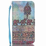 Недорогие Чехлы и кейсы для Galaxy S6 Edge Plus-Кейс для Назначение SSamsung Galaxy Кейс для  Samsung Galaxy Бумажник для карт Кошелек со стендом Флип Чехол Слон Кожа PU для S6 edge