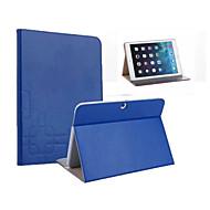 Для Кейс для  Samsung Galaxy Бумажник для карт / со стендом / Флип / Рельефный Кейс для Чехол Кейс для Один цвет Искусственная кожа