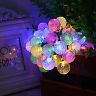 6.5m 30led forma de bolha luzes de cordas solares luzes de casamento fino luzes de decoração