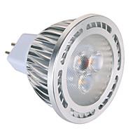 GU5.3(MR16) Faretti LED MR16 3 leds SMD Decorativo Bianco caldo Luce fredda 450lm 2800-3200/6000-6500K AC 85-265 AC 12V