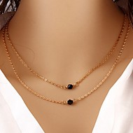 Недорогие $0.99 Модное ювелирное украшение-Жен. Слоистые ожерелья - Мода Золотой Ожерелье Бижутерия Назначение Особые случаи, День рождения, Подарок