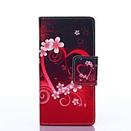 Недорогие Чехлы и кейсы для Galaxy J5-любовная краска pu phone case для галактики j5 / j3 / галактика on5 галактика j серия чехлы / обложки