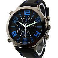 Недорогие Фирменные часы-V6 Муж. Кварцевый Японский кварц Наручные часы Армейские часы Крупный циферблат силиконовый Группа Кулоны Черный