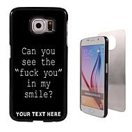 Για Samsung Galaxy Θήκη Με σχέδια tok Πίσω Κάλυμμα tok Λέξη / Φράση PC SamsungS6 edge plus / S6 edge / S6 / S5 Mini / S5 / S4 / A8 / A7 /