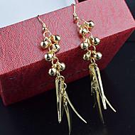 בגדי ריקוד נשים חרוזים עגילי טיפה - נשים תכשיטים כסף / מוזהב עבור חתונה Party יומי קזו'אל