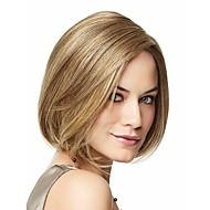 Недорогие Парики-Искусственные волосы парики Прямой силуэт Без шапочки-основы Карнавальный парик Парик для Хэллоуина Короткие Блондинка