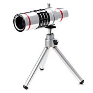abordables Smartphone Fotografía-nueva lente 18 × teléfono para el smartphone con el clip& soporte universal& mini trípode& conjuntos de lentes