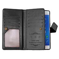 お買い得  携帯電話ケース-ケース 用途 Sony Xperia Z3 ソニーのXperia M4アクア Sony Xperia Z3 Sonyケース カードホルダー ウォレット スタンド付き フリップ フルボディーケース 純色 ハード PUレザー のために Sony Xperia Z3 Z3+ /