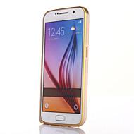 Для Кейс для  Samsung Galaxy Ультратонкий Кейс для Бампер Кейс для Один цвет Металл Samsung S6