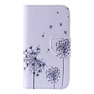Недорогие Чехлы и кейсы для Galaxy J5-Кейс для Назначение SSamsung Galaxy Кейс для  Samsung Galaxy Бумажник для карт Кошелек со стендом Флип С узором Чехол одуванчик Кожа PU