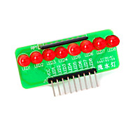 8-led rood licht strip microcontroller module - groen + rood