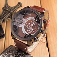 Bărbați Ceas Sport Ceas Militar  Quartz Supradimensionat Piele Negru / Orange / Maro Ceas Casual Cool Analog Maro Rosu Albastru Un an Durată de Viaţă Baterie / SSUO 377