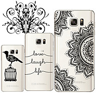 Для Samsung Galaxy Note Прозрачный Кейс для Задняя крышка Кейс для Черный и белый TPU Samsung Note 5