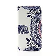 preiswerte iPod-Hüllen / Cover-Elefanten und Kreis Blume PU-lederne Mappe Ganzkörper-Case für iPod Touch 5/6