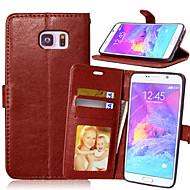 Недорогие Чехлы и кейсы для Galaxy Note-Кейс для Назначение SSamsung Galaxy Samsung Galaxy Note Бумажник для карт Кошелек со стендом Флип Чехол Сплошной цвет Кожа PU для Note 5