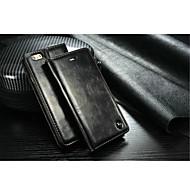 Недорогие Кейсы для iPhone 8-Кейс для Назначение Apple iPhone X iPhone 8 iPhone 6 iPhone 6 Plus iPhone 7 Plus iPhone 7 Бумажник для карт со стендом Чехол Сплошной цвет