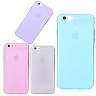 Недорогие Кейсы для iPhone 8 Plus-Кейс для Назначение Apple iPhone X iPhone 8 iPhone 6 iPhone 6 Plus Прозрачный Кейс на заднюю панель Сплошной цвет Мягкий ТПУ для iPhone X