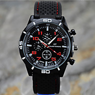 cheap Dress Watches-Men's Sport Watch / Wrist Watch Casual Watch / Cool Silicone Band Black / Tianqiu 377