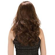 Недорогие Парики из искусственных волос-Парики из искусственных волос Без шапочки-основы Средний Волнистые Коричневый Карнавальные парики