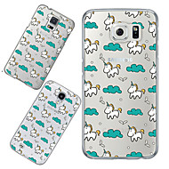 For Samsung Galaxy etui Transparent Mønster Etui Bagcover Etui Mosaik mønster TPU for Samsung S6 S5 S4