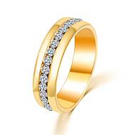 여성 문자 반지 미니멀 스타일 패션 고급 보석 의상 보석 크리스탈 모조 다이아몬드 합금 보석류 제품 파티 일상 캐쥬얼