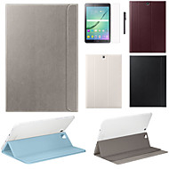 cheap Cases / Covers for Samsung-Case For Samsung Galaxy Tab S2 9.7 Tab S2 8.0 Samsung Galaxy Case with Stand Flip Magnetic Full Body Cases Solid Color PU Leather for