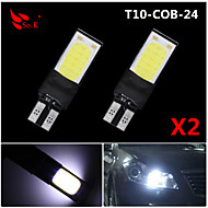 お買い得  -SO.K 2pcs T10 車載 電球 COB 200 lm 6 ウィンカー For ユニバーサル