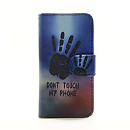 Don't Touch My Phone PU Leather Wallet Full Body Case for iPod Touch 5/6