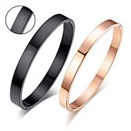 baratos -presentes do dia dos namorados personalizado de jóias amantes de titânio de aço glod / pulseiras pretas do casal (um par)