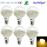 お買い得  -YouOKLight 6本 700 lm E26 / E27 LEDボール型電球 B 15 LEDビーズ SMD 5630 装飾用 温白色 220-240 V / 6個 / RoHs