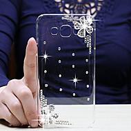 Для Кейс для  Samsung Galaxy Стразы / Прозрачный Кейс для Задняя крышка Кейс для Цветы PC Samsung A8 / A7 / A5 / A3