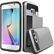 Недорогие Чехлы и кейсы для Galaxy S6 Edge Plus-Кейс для Назначение SSamsung Galaxy Кейс для  Samsung Galaxy Бумажник для карт Кейс на заднюю панель броня ПК для S6 edge plus S6 edge S6