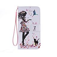 Mert Samsung Galaxy tok Kártyatartó / Pénztárca / Állvánnyal / Flip / Minta Case Teljes védelem Case Szexi lány Műbőr mert SamsungXcover