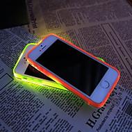 お買い得  70%OFF以上-iPhone 5 / 5S用の新しいTPU主導のリマインダーフラッシュ透明バックカバーケース(アソートカラー)