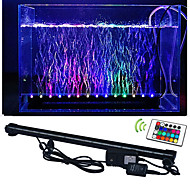 abordables Luces LED de Acuario-lm Luces llevadas del acuario 50 leds SMD 5050 Impermeable Decorativa Control Remoto RGB AC 100-240V