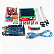 3D-printer controller ramps 1.4 + mega2560 R3 + 5 x a4988 + LCD12864 controller board voor 3D-printer