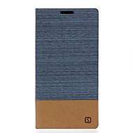 Для Кейс для  Samsung Galaxy Бумажник для карт / со стендом / Флип Кейс для Чехол Кейс для Полосы / волосы Искусственная кожа SamsungS7