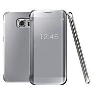 お買い得  Samsung 用 ケース/カバー-ケース 用途 Samsung Galaxy Samsung Galaxy S7 Edge メッキ仕上げ フルボディーケース ソリッド PC のために S7 Active / S7 plus / S7 edge plus