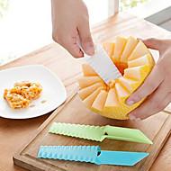 1 kpl Cutter & Slicer For hedelmien / vihannesten Ruostumaton teräs Creative Kitchen Gadget / Ympäristöystävällinen / Korkealaatuinen