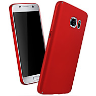cheap Cases / Covers for Samsung-Case For Samsung Galaxy Samsung Galaxy S7 Edge Pattern Back Cover Solid Color PC for S7 edge S7