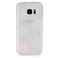 Для Кейс для  Samsung Galaxy Прозрачный Кейс для Задняя крышка Кейс для Цветы TPU SamsungS7 / S6 edge / S6 / S5 Mini / S5 / S4 Mini / S4