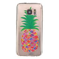 Недорогие Чехлы и кейсы для Galaxy S-Кейс для Назначение SSamsung Galaxy Samsung Galaxy S7 Edge Рельефный Кейс на заднюю панель Фрукты ТПУ для S7 edge S7
