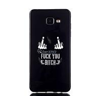 Недорогие Чехлы и кейсы для Galaxy A7(2016)-Для Кейс для  Samsung Galaxy Чехлы панели С узором Задняя крышка Кейс для Слова / выражения TPU для Samsung A7(2016) A5(2016) A3(2016)