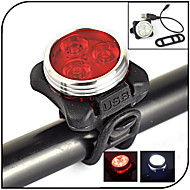Bike Lights LED 240 lumens Lumens 4 Mode - Yes Rechargeable Waterproof Night Vision for Cycling/Bike White Red
