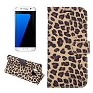 Недорогие Чехлы и кейсы для Galaxy S7 Edge-Кейс для Назначение SSamsung Galaxy Samsung Galaxy S7 Edge Бумажник для карт Кошелек со стендом Флип Чехол Леопардовый принт Кожа PU для