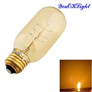 cheap LED Filament Bulbs-YouOKLight 1pc 400 lm E26/E27 LED Globe Bulbs B 1 leds COB Decorative Warm White AC 110-130V AC 220-240V