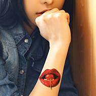 1 - 22*15cm - Πολύχρωμο - Cherry Strawberry - BR - Σειρά Κοσμημάτων / Σειρά Λουλουδιών / Σειρά Τοτέμ / Άλλα - Αυτοκόλλητα Τατουάζ -Non