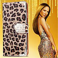 Mert Kártyatartó / Strassz / Állvánnyal / Flip / Minta Case Teljes védelem Case Leopárd minta Kemény Műbőr Samsung Note 5