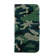 Для Кейс для  Samsung Galaxy Бумажник для карт / со стендом / Флип / С узором / Магнитный Кейс для Чехол Кейс для КамуфляжИскусственная