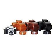 dengpin® pu læder kamerataske taske cover med skulderrem til olympus e-m10 mark ii EM10 Mark2 (assorterede farver)